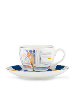 illustrated step brightly cup and saucer set