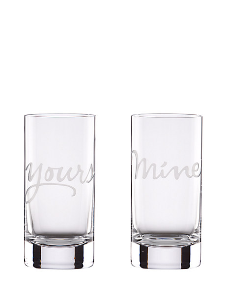 two of a kind yours and mine highball set by kate spade new york
