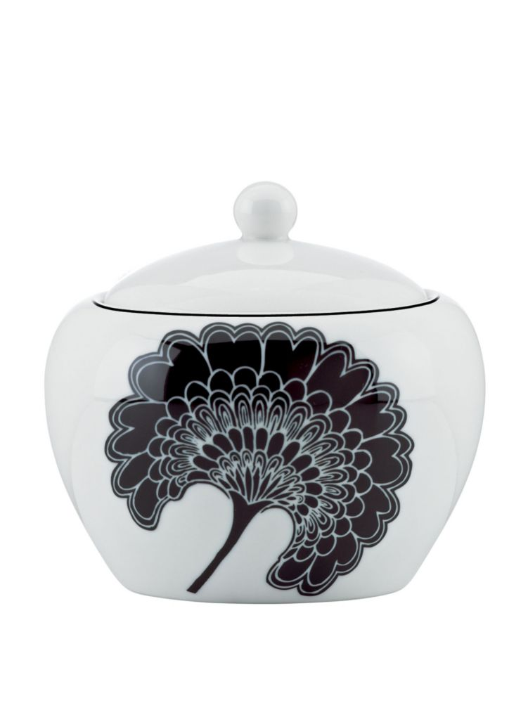 japanese floral sugar bowl