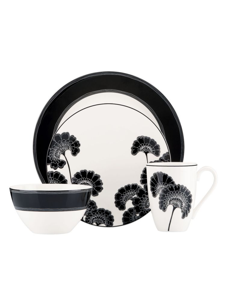 japanese floral 4 piece place setting