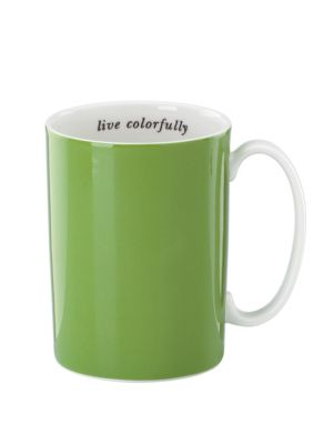 say the word live colorfully mug