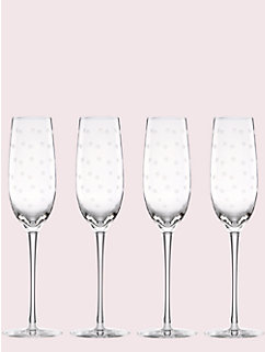 larabee dot flutes set by kate spade new york