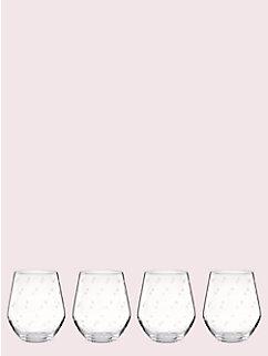 larabee dot stemless white wine set by kate spade new york