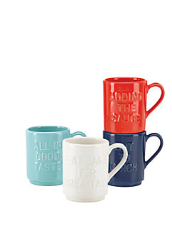pretty pantry words set of 4 mugs by kate spade new york