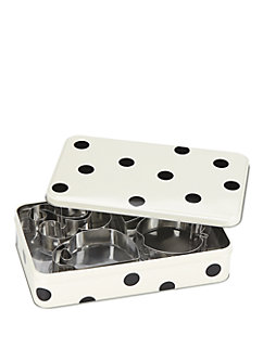 cookie cutter and storage tin set by kate spade new york