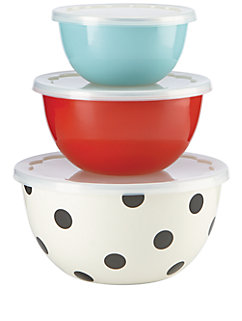 set of 3 serve and store bowls by kate spade new york