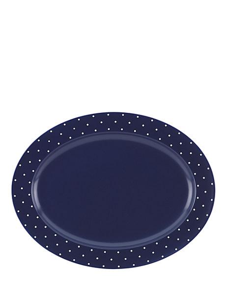 Kate Spade Larabee Dot Serving Platter, Navy