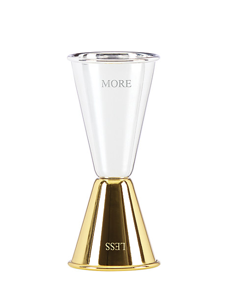 two of a kind less/more jigger by kate spade new york