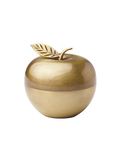 Kate Spade Zadie Drive Apple Covered Box, Gold