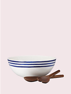 charlotte street salad set with wooden servers by kate spade new york