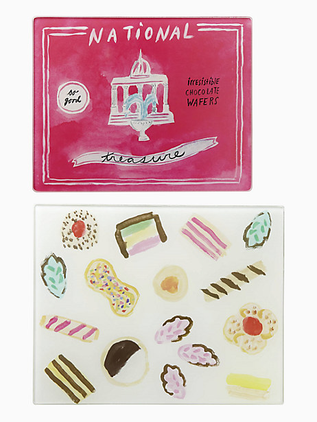 Kate Spade One Smart Cookie Food Set Of 2 Prep Boards, Green