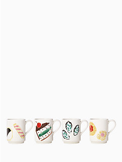 one smart cookie set of 4 mugs by kate spade new york