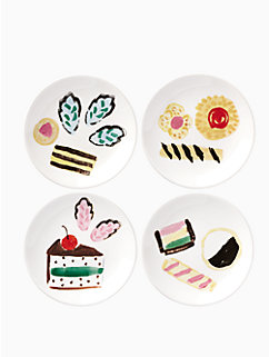 one smart cookie set of 4 tidbits plates by kate spade new york