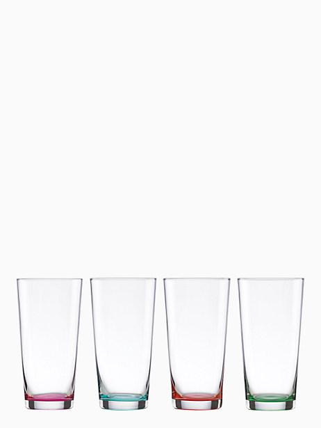 flynn street set of 4 highball glasses by kate spade new york