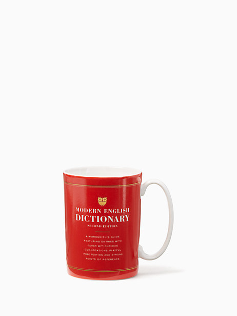 Kate Spade Tell Your Story Dictionary Mug, Red