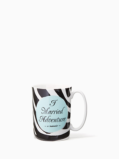 Kate Spade Tell Your Story Married Adventure Mug, Black