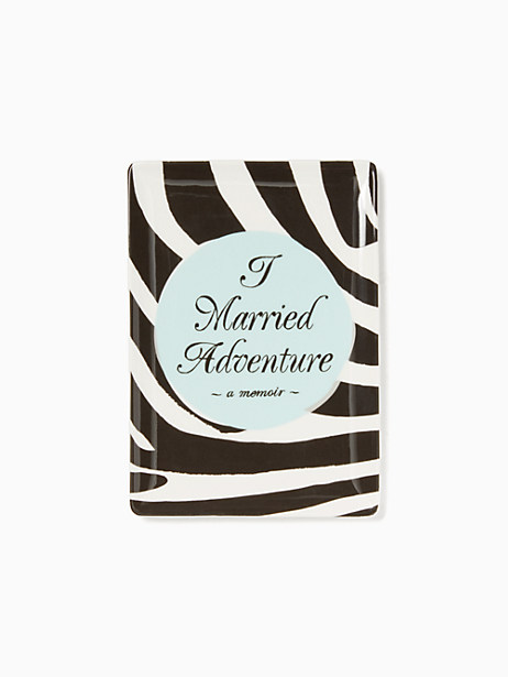 Kate Spade Tell Your Story Married Adventure Tray, Black