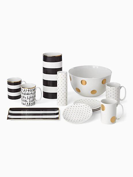 everdon lane gold pin dot mug by kate spade new york