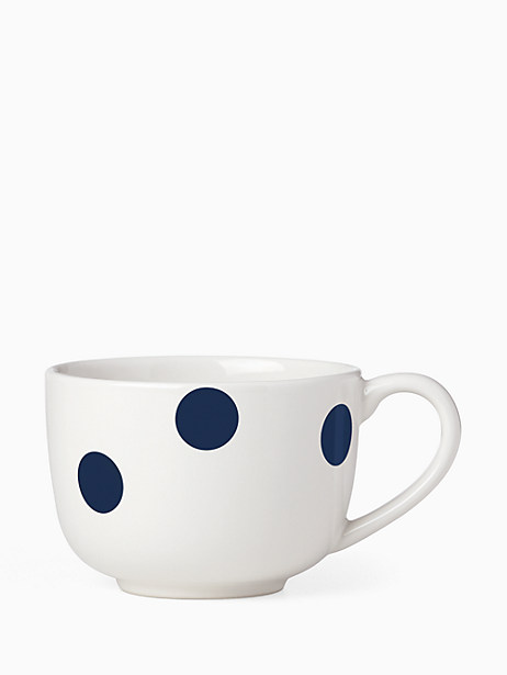 Deco Dot Cobalt Latte Mug by kate spade new york