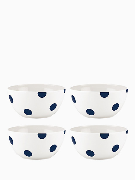 Deco Dot Cobalt  All Purpose Bowls, Set of 4 by kate spade new york