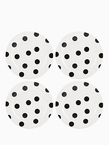 Deco Dot Accent Plates, Set of 4 by kate spade new york