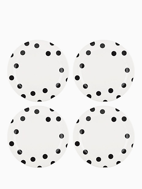 Deco Dot Dinner Plates, Set of 4 by kate spade new york