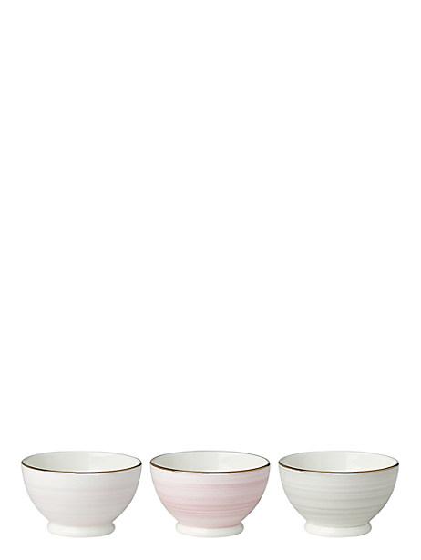 Charles Lane blush Bowls, Set of Three by kate spade new york