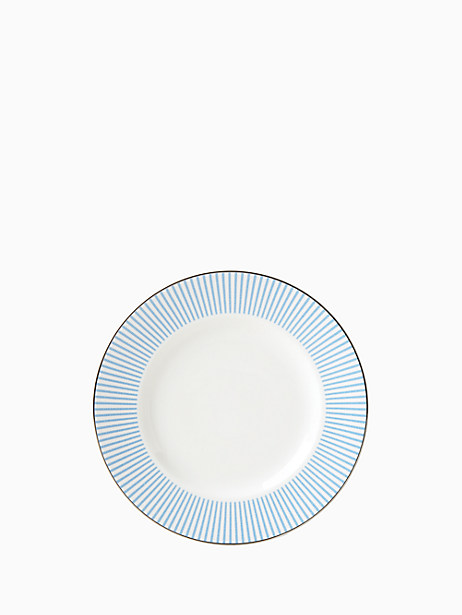 Kate Spade Laurel Street Accent Plate, White Stripe