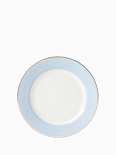 Kate Spade Laurel Street Dinner Plate, White Stripe
