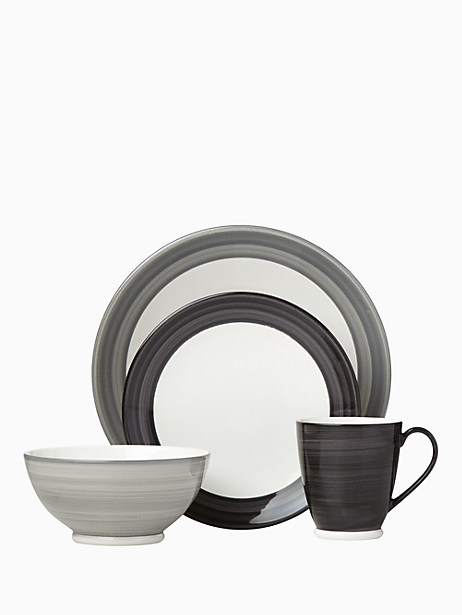 Charles Lane Charcoal 4 Piece Place Setting by kate spade new york