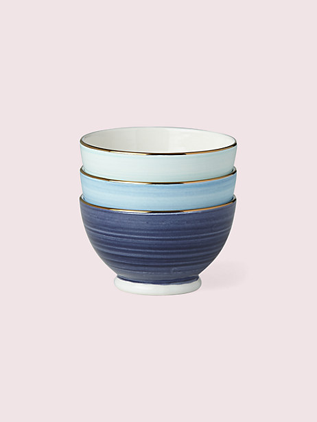 Charles Lane indigo Bowls, Set of Three by kate spade new york