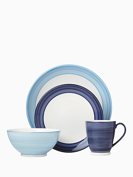 Kate Spade Charles Lane Indigo 4 Piece Place Setting, Colbalt