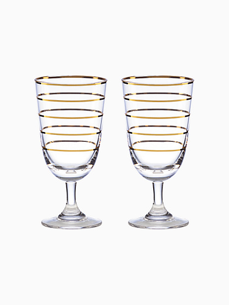 Melrose Avenue Wine Glass, Set of Two by kate spade new york