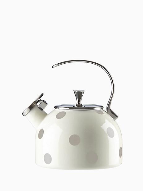 Deco Dot Beige Tea Kettle by kate spade new york