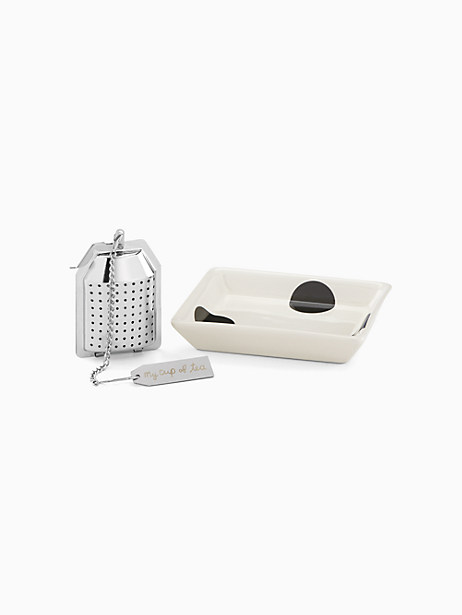 Piping Hot Tea Infuser Gift Set by kate spade new york