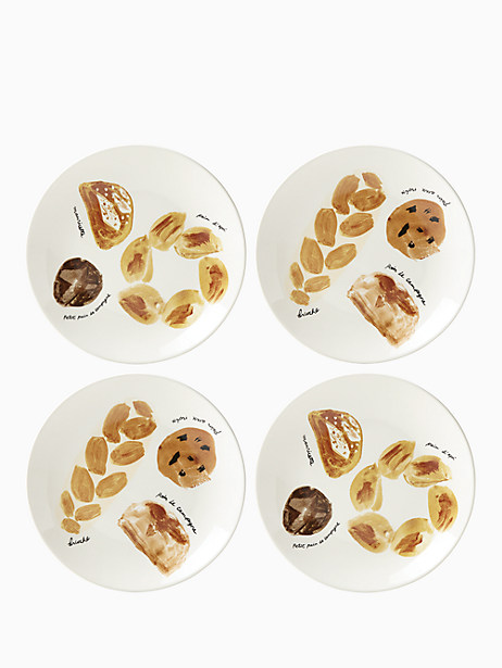 Freshly Baked Accent Plates, Set of 4 by kate spade new york