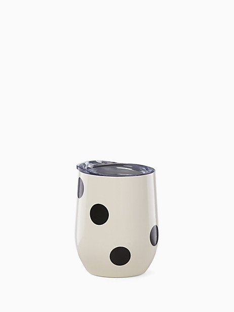 Deco Dot Stemless Wine Tumbler by kate spade new york