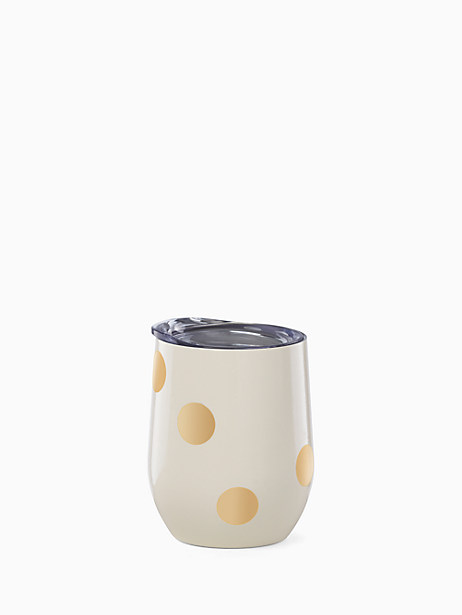 Deco Dot Gold Stemless Wine Tumbler by kate spade new york