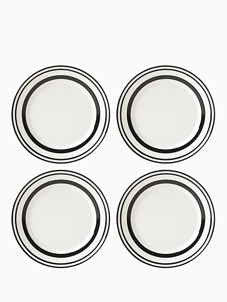 All in Good Taste Sculpted Stripe Accent Place, Set of 4 by kate spade new york