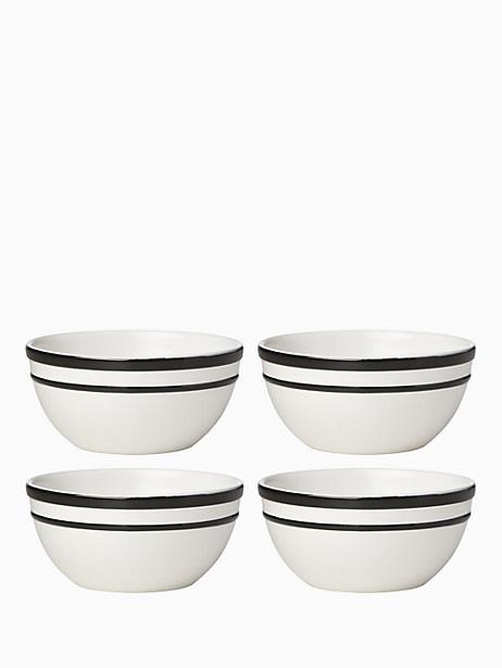 All in Good Taste Sculpted Stripe AP Bowl, Set of 4 by kate spade new york