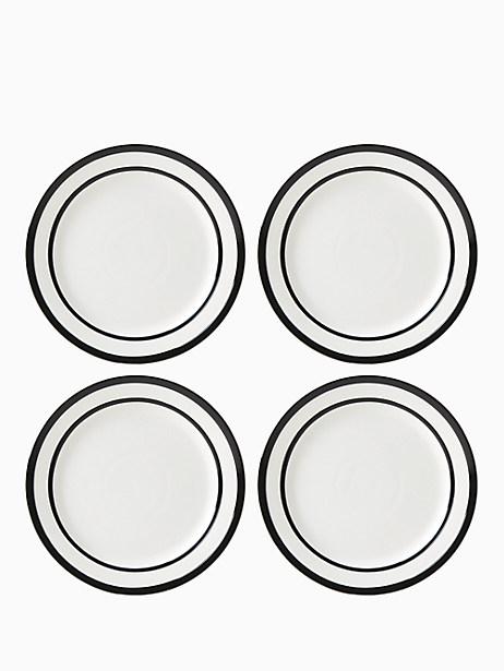 All in Good Taste Sculpted Stripe Dinner Plate, Set of 4 by kate spade new york