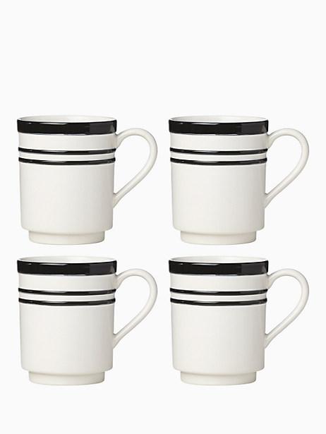 All in Good Taste Sculpted Stripe Mug, Set of 4 by kate spade new york
