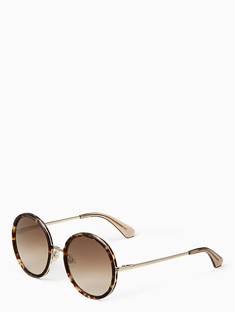 Kate Spade Lamonica Sunglasses, Black Havana