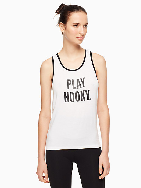 Kate Spade Play Hooky Easy Tank, White - Size L