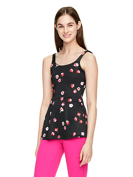 Kate Spade Falling Florals Peplum Cami, Falling Floral - Size L