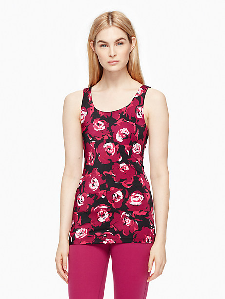 Kate Spade Cinched Bow Tank, Romantic Floral - Size L