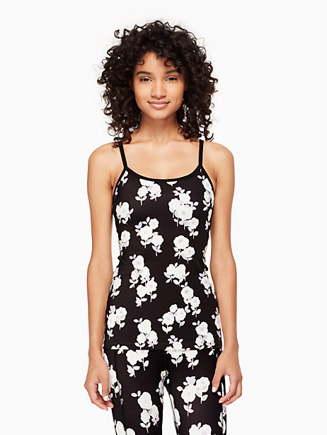 Kate Spade Cinched Back Bow Tank, Floral Garden - Size L
