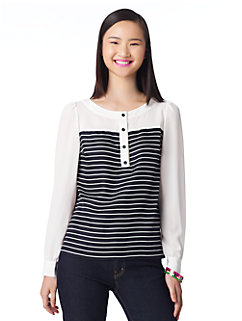 striped leanne top