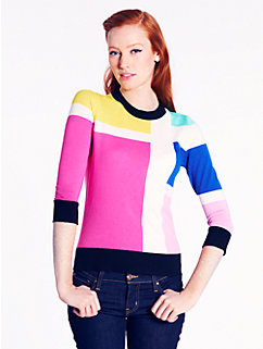 meri sweater in mondrian