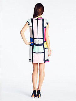 claudette dress in mondrian